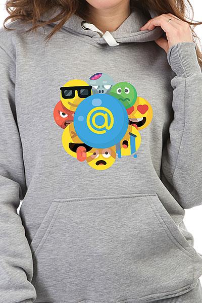 Толстовка Wearcraft Premium Женская Mail.ru Smile Серый Меланж