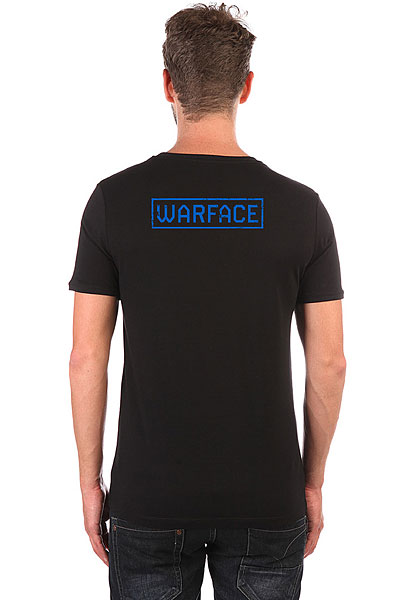 Футболка Wearcraft Premium Slim Fit Warface Wings Черная