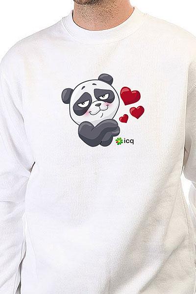 Свитшот Icq Lovingpanda Белый