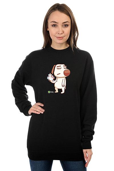 Свитшот женский ICQ Fckdog Черный