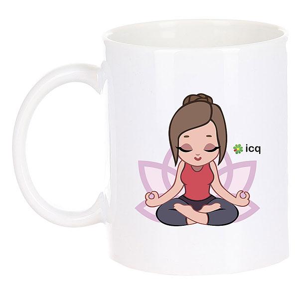 Кружка ICQ Lotosgirl Белая