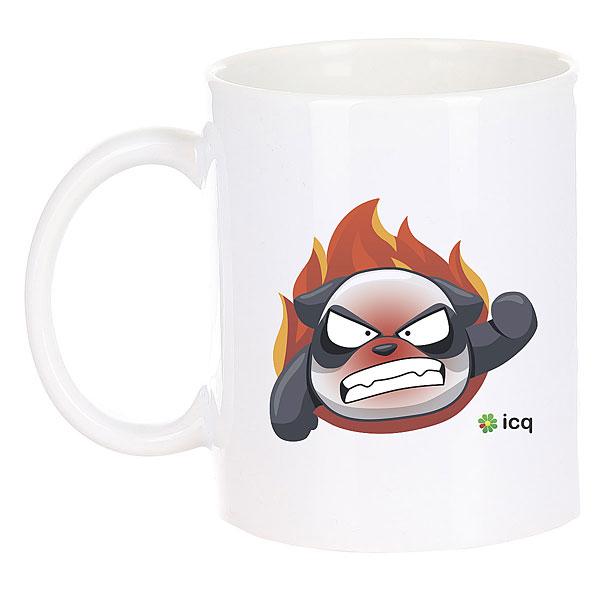 Кружка ICQ Angrypanda Белая
