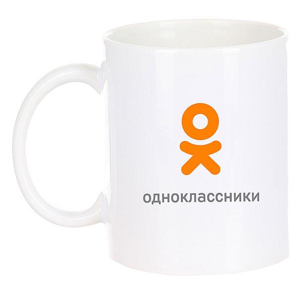 Кружка Одноклассники Logo Белая