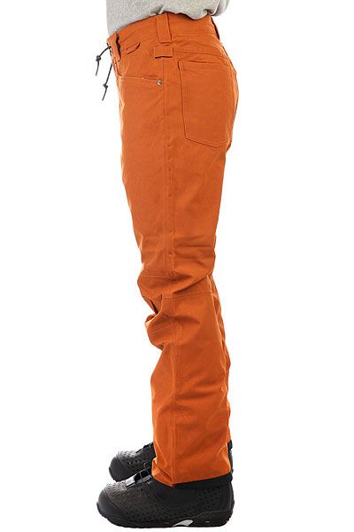 Штаны сноубордические DC Relay Waxed Leather Brown
