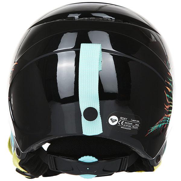 Шлем для сноуборда детский Roxy Misty True Black neon Palm