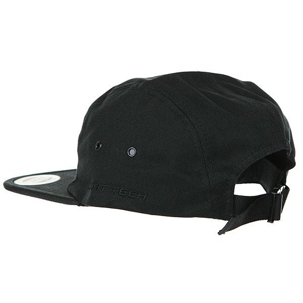 Бейсболка пятипанелька Transfer Jockey Cap Black