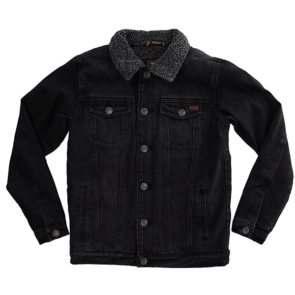 Куртка джинсовая детская Billabong Barlow Trucker Boy Salty Vinta Black