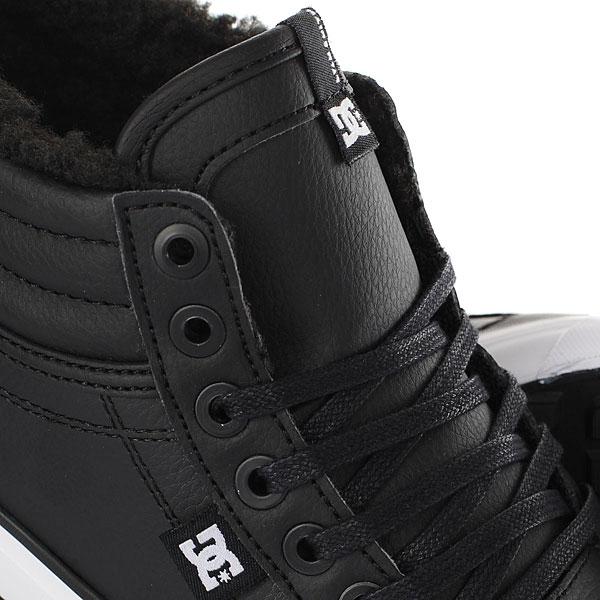Кеды зимние женские DC Shoes Evan Hi Wnt Black/White/Black