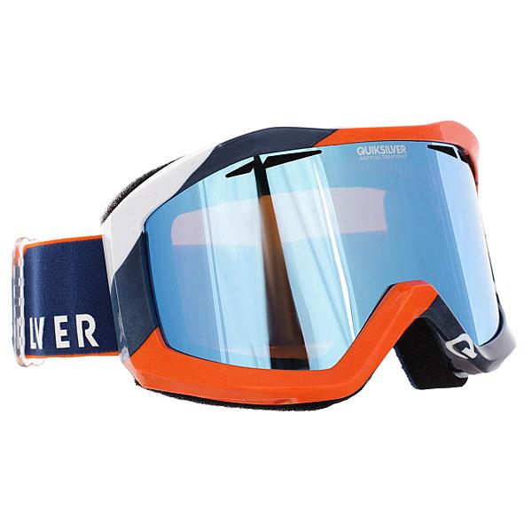 Купить Маска для сноуборда Quiksilver Fenom Estate Blue/Orange 1188203