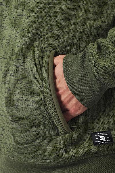 Толстовка классическая DC s Elby M Plfl Vintage Green