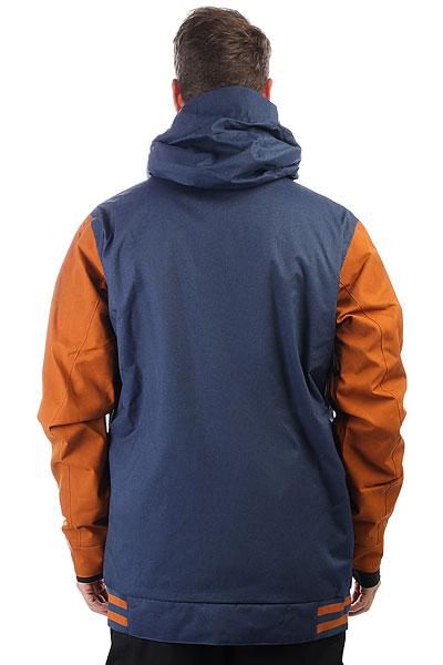 Куртка утепленная DC Shoes Dcla Se Waxed Leather Brown