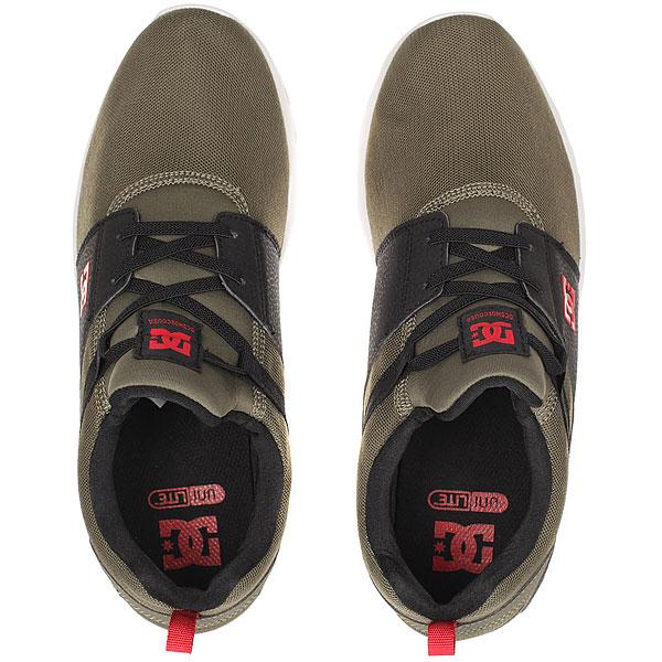 Кроссовки детские DC Shoes Heathrow Olive/Black