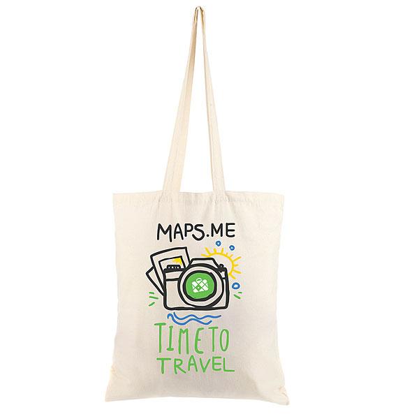Холщовая сумка Optima Maps.me Timeto Traveler Неокрашенная