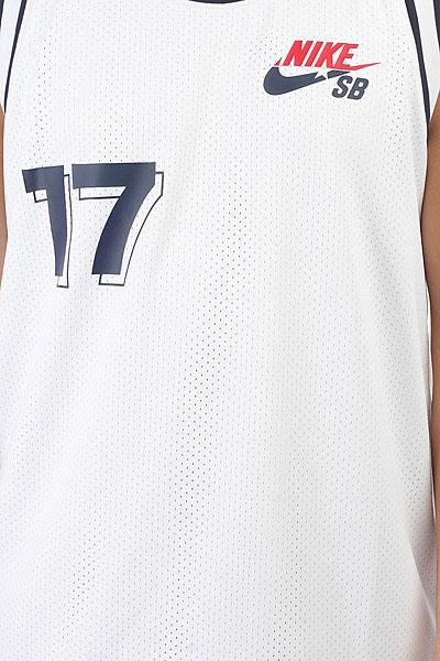 Футболка Nike SB JERSEY COURT WHITE/OBSIDIAN