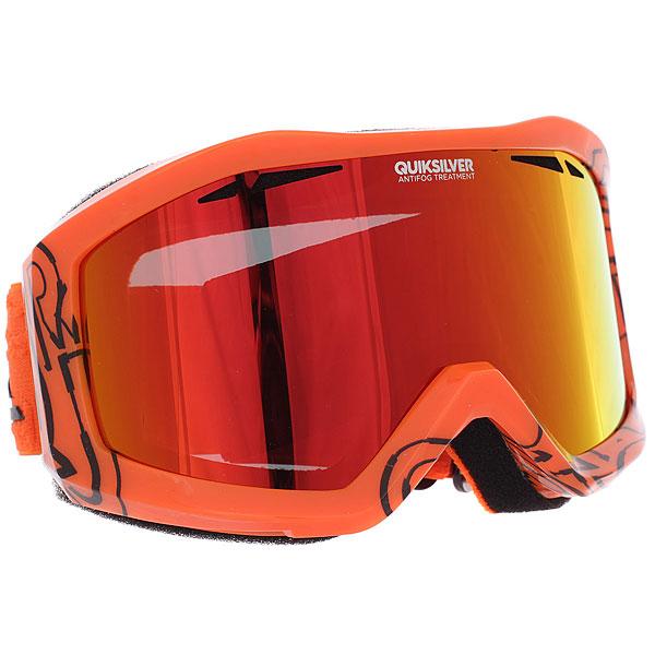 Купить Маска для сноуборда Quiksilver Fenom Pack Mandarin Red 1188976