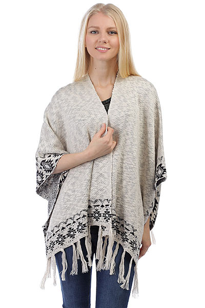 Пончо женский Billabong Desert Kiss Poncho White Cap
