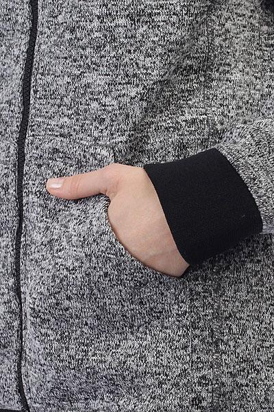 Толстовка классическая женская Billabong Snow Off Zip Ho Dwr Black Heather