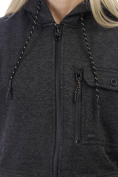Толстовка классическая женская Billabong Quadrant Zip Up Black Heather
