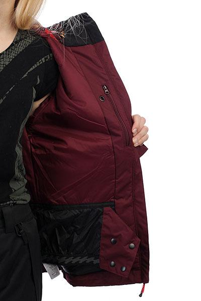 Куртка утепленная женская Billabong Terra Mystic Maroon