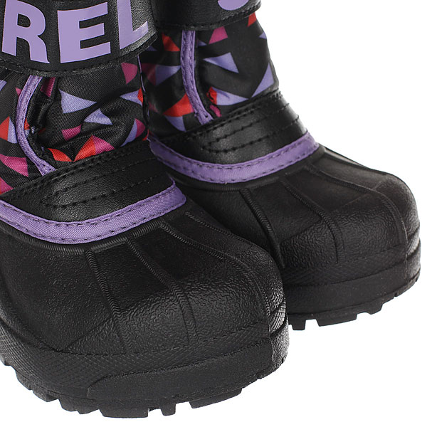 детский Sorel Childrens Snow Commander black Paisley Purple