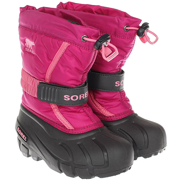 детский Sorel Childrens Flurry deep Blush Tropic Pink