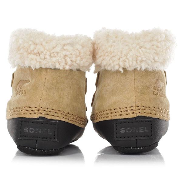 Ботинки зимние детские Sorel Caribootie curry Black