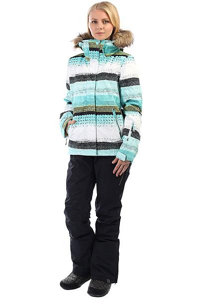 Куртка утепленная женская Roxy Jet Ski Aruba Blue Lizzydots