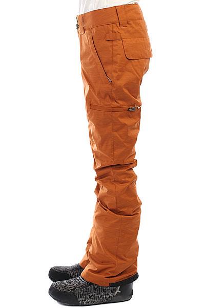 Штаны сноубордические женские DC Recruit Leather Brown