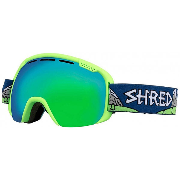 Маска для сноуборда Shred Smartefy Neon Green