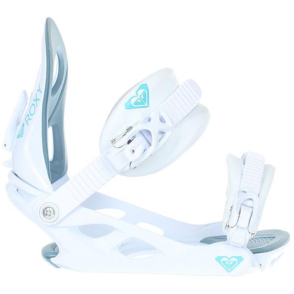 Крепления для сноуборда женские Roxy Glow Binding White