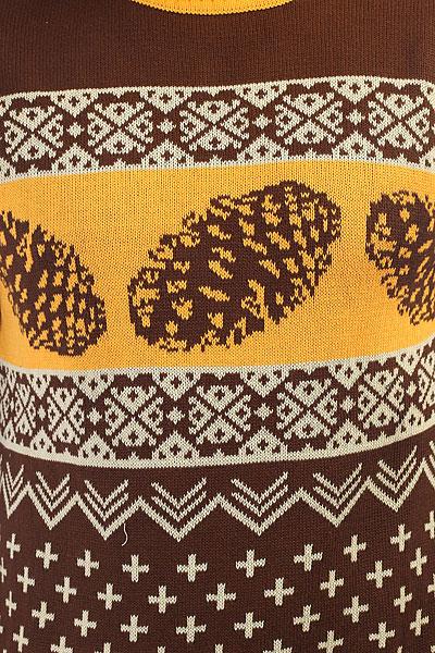 Свитер Запорожец Shishki Brown/Yellow