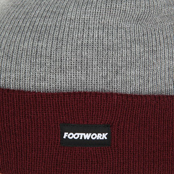 Шапка Footwork F16 Triumph Burgundy/Light Gray Melange