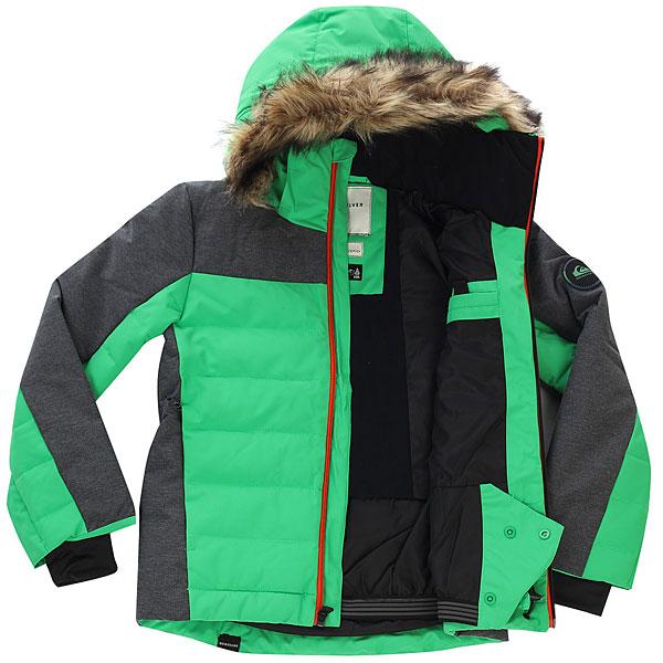 Куртка утепленная детская Quiksilver The Edge Kelly Green