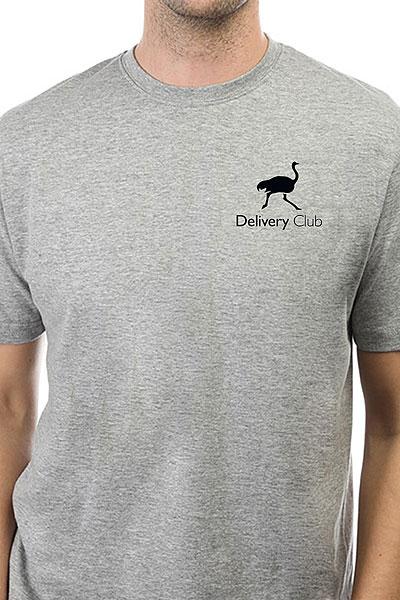 Футболка Классическая Deliveryclub Logo Серая S