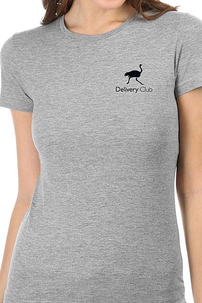 Футболка Женская Классическая Deliveryclub Logo Серая S