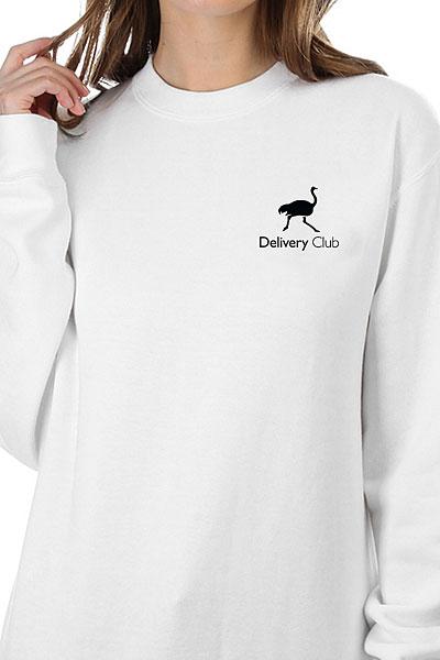 Свитшот Женский Deliveryclub Logo Белый S