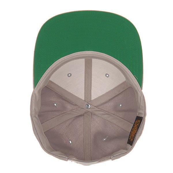 Бейсболка с прямым козырьком Flexfit 6089m Silver
