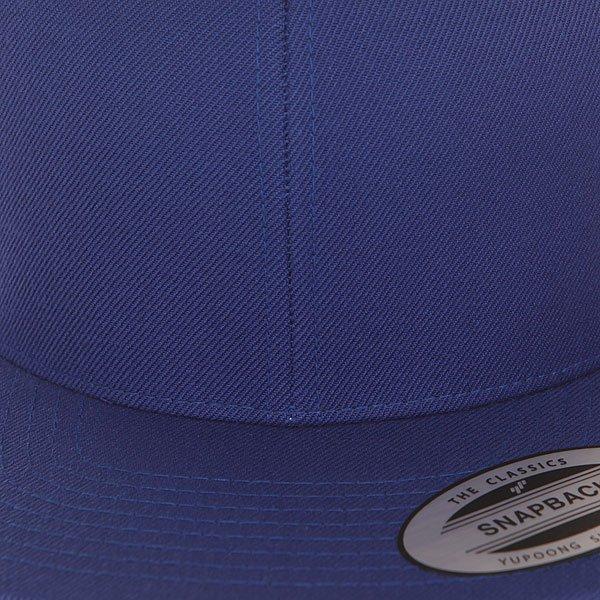 Бейсболка с прямым козырьком Flexfit 6089m Royal