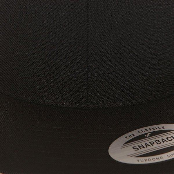 Бейсболка с прямым козырьком Flexfit 6089m Black