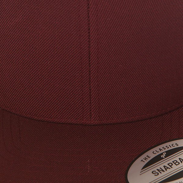Бейсболка с прямым козырьком Flexfit 6089m Maroon