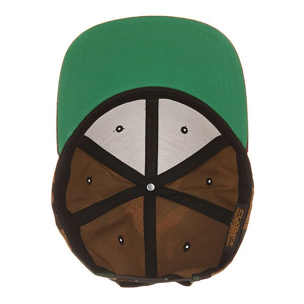 Бейсболка с прямым козырьком Flexfit 6089m Black/Green Camo