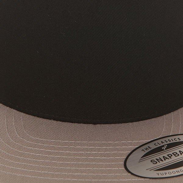 Бейсболка с прямым козырьком Flexfit 6007t Black/Silver