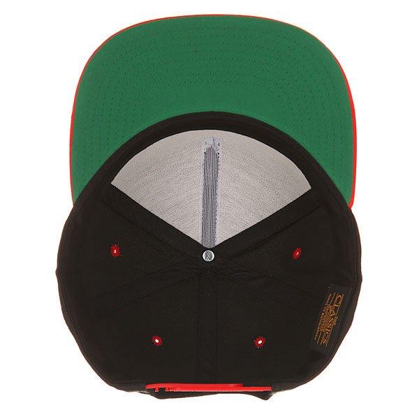 Бейсболка с прямым козырьком Flexfit 6007T Red/Black