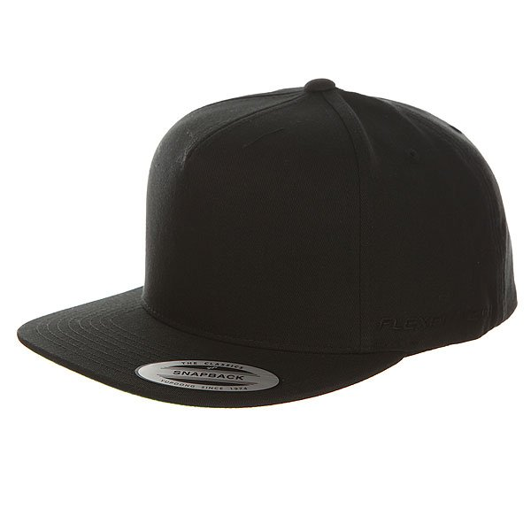 Бейсболка с прямым козырьком Flexfit 6007 Black