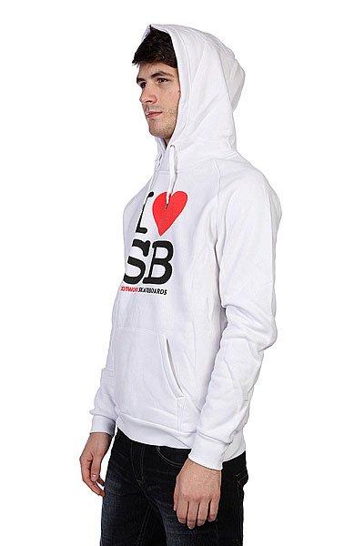 Толстовка кенгуру Footwork I Love Sb White