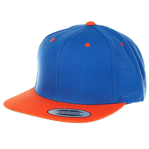Бейсболка классическая Flexfit/Yupoong Royal/Orange