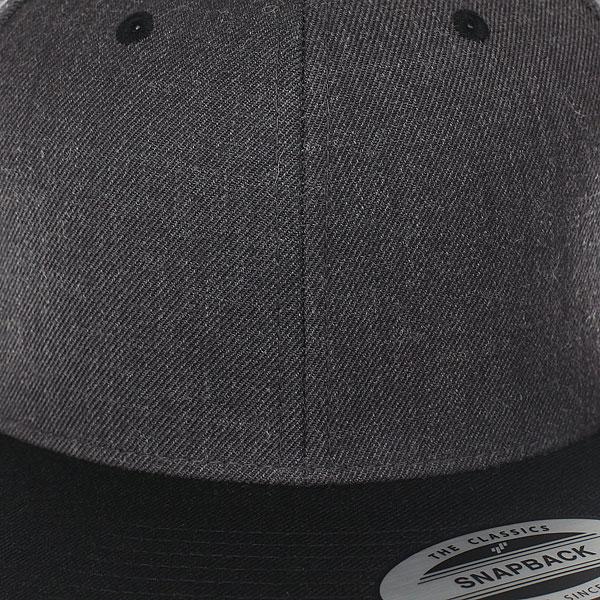 Бейсболка классическая Flexfit/Yupoong Heather Grey/Black