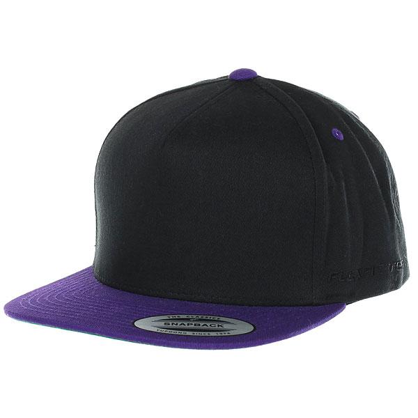Бейсболка классическая Flexfit/Yupoong Black/Purple