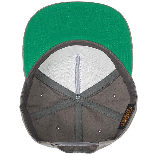Бейсболка классическая Footwork Icon Flexfit Grey