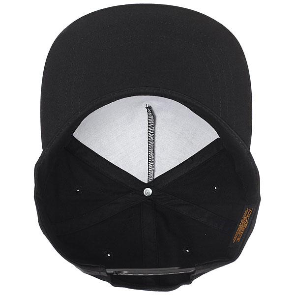 Бейсболка классическая Footwork Quadro Flexfit Black